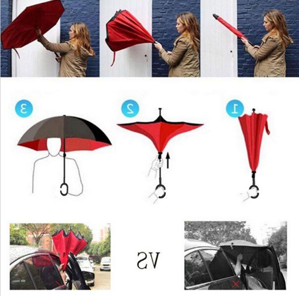 <font><b>Inverted</b></font> Layer sun Reverse <font><b>Umbrellas</b></font> chuva invertido Windproof