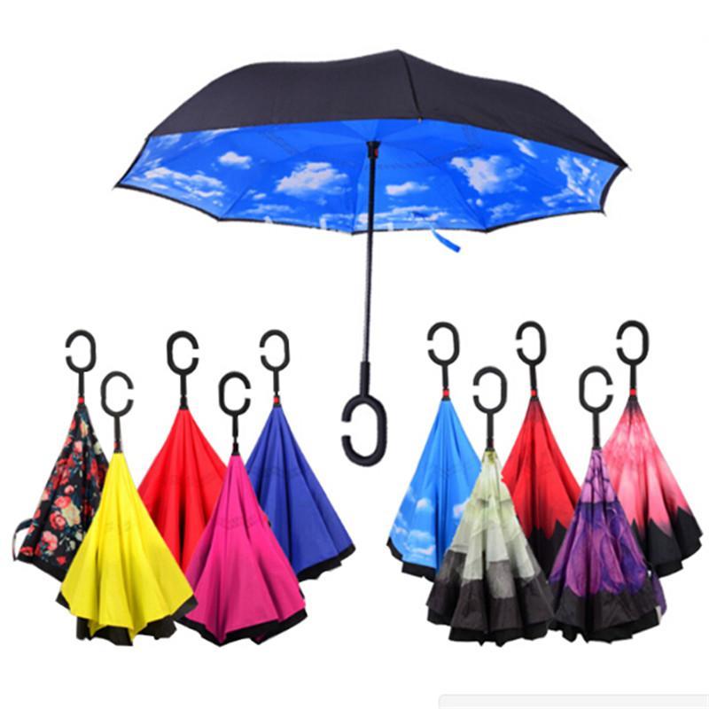 <font><b>Inverted</b></font> Double Layer sun Women Reverse <font><b>Umbrellas</b></font> guarda chuva invertido paraguas Windproof