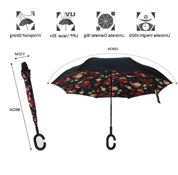<font><b>Inverted</b></font> Double sun Women Reverse <font><b>Umbrellas</b></font> chuva parapluie Windproof