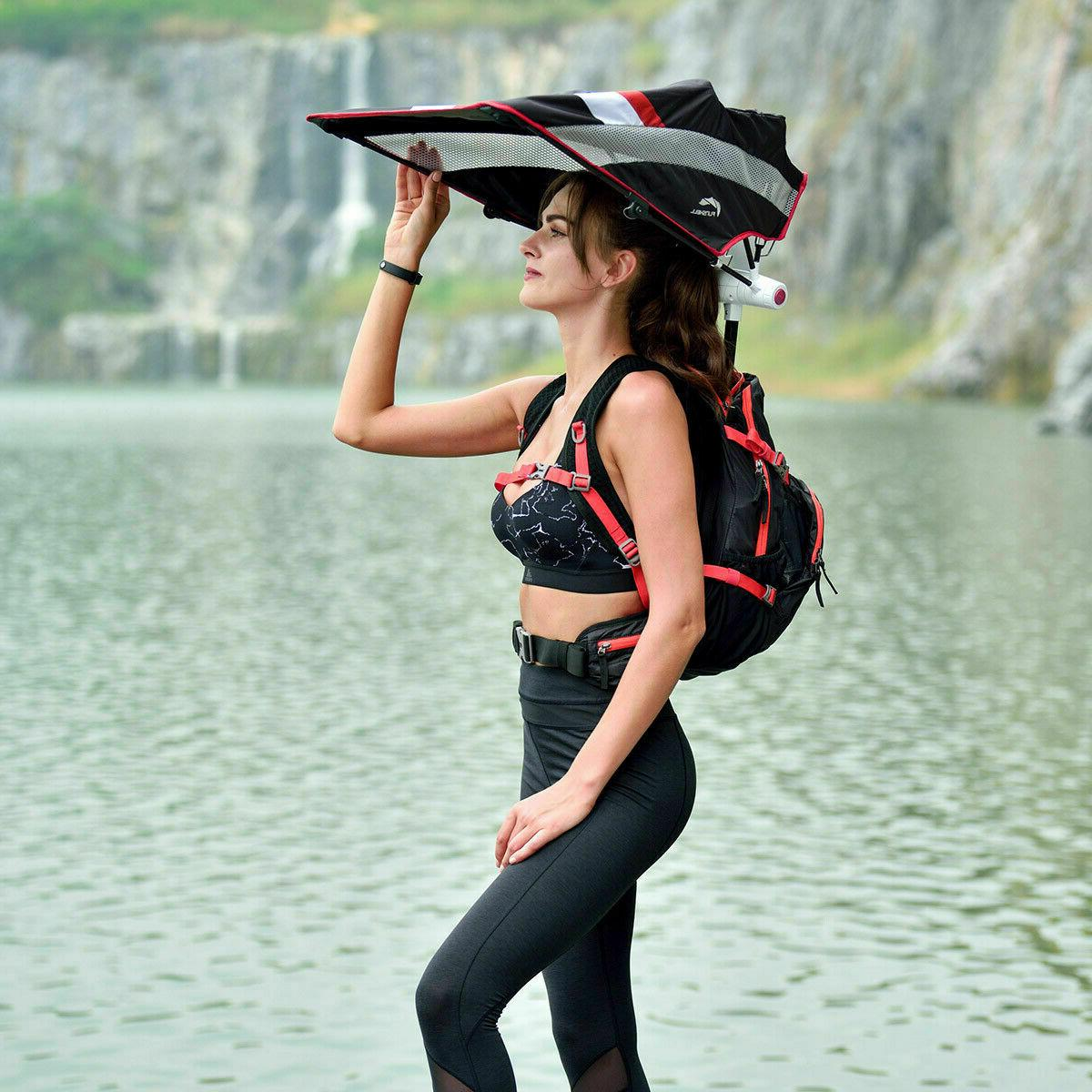 FunShell 20L Hiking Umbrella, Protection Black w/