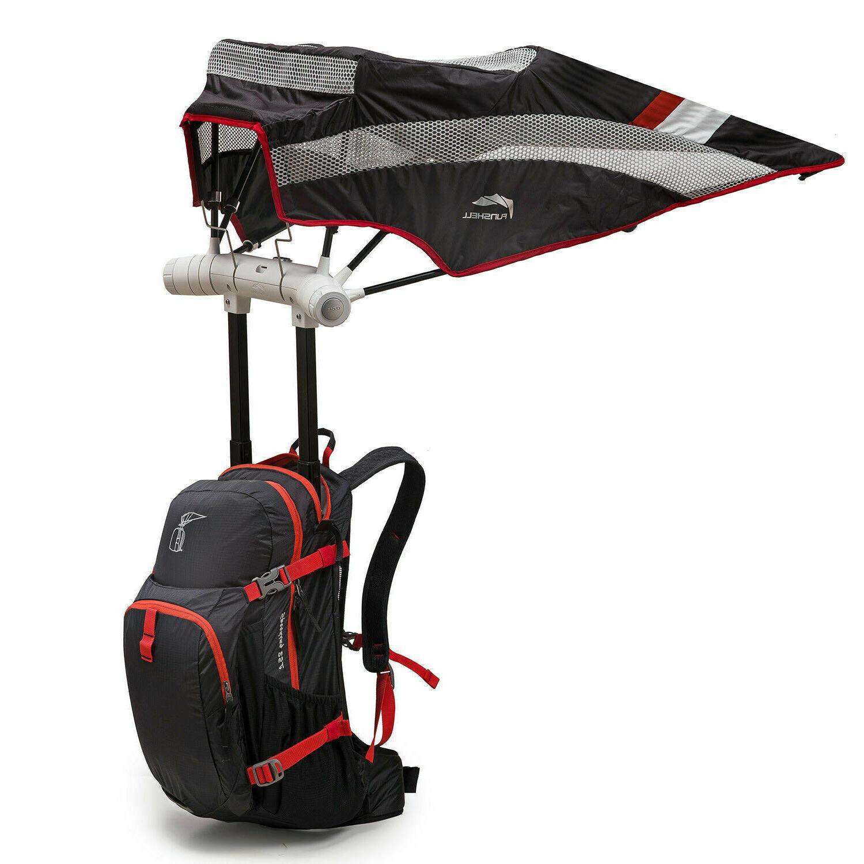 FunShell Hiking Backpack Umbrella, Protection Black w/