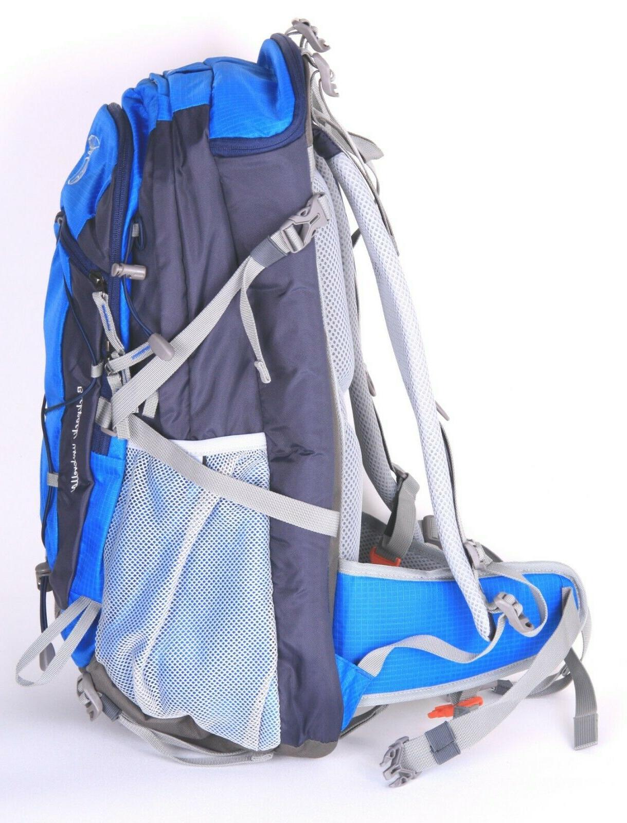 FunShell 40L Hiking Backpack Umbrella, Camping UV Protection Blue