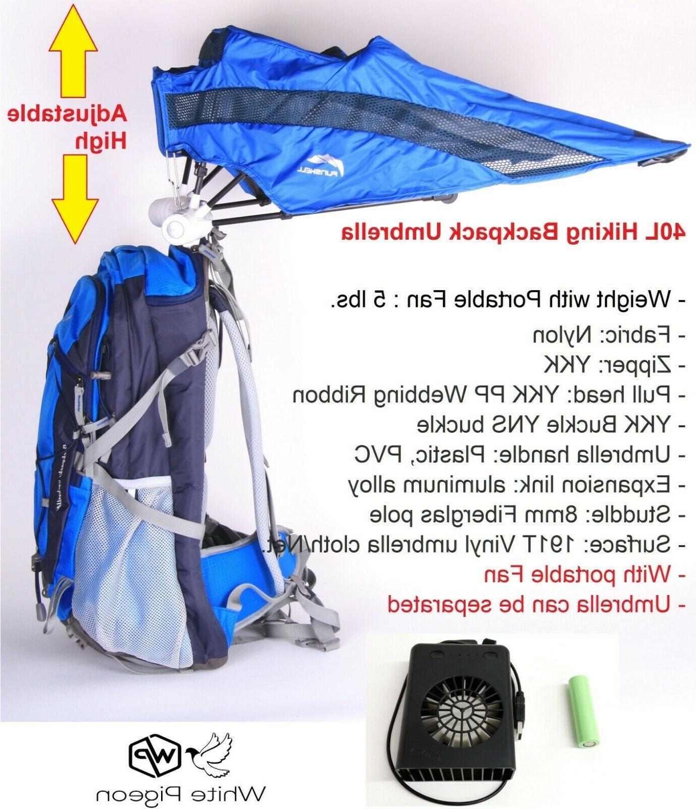 funshell 40l hiking backpack umbrella camping uv