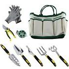 Garden Tool Set Gardening Kit 9 Pieces Plant Rope and a Pair
