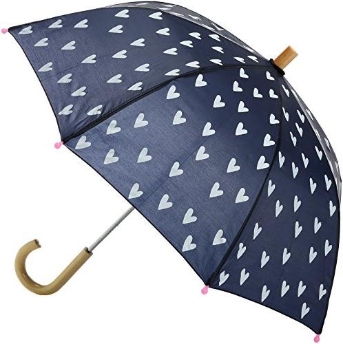 girls little printed umbrellas navy white hearts