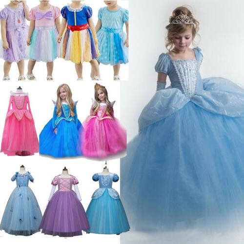 Girls Princess Cinderella Snow White Disney Cosplay Costume