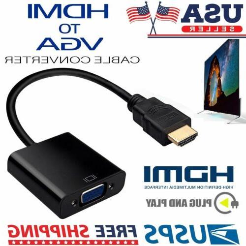 1080P HDMI Male to VGA Female Video Cord Converter Adapter C