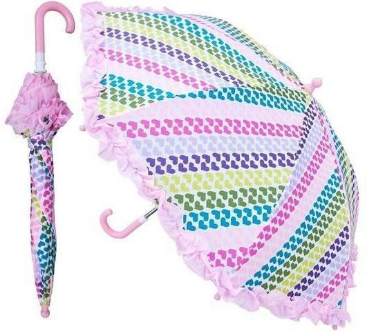 heart stripe print umbrella