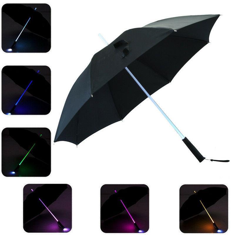 Hot LED Lightsaber Umbrella Light Up with 7 Color Changing O