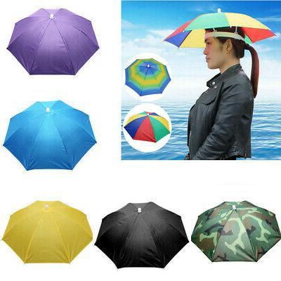 sun umbrella hat outdoor hot foldable golf