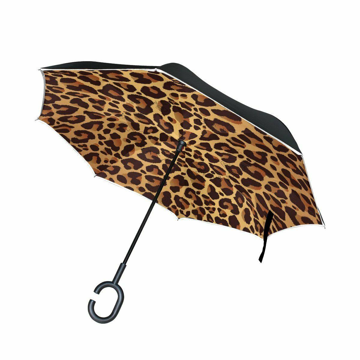 inverted c handle double layer umbrella windproof