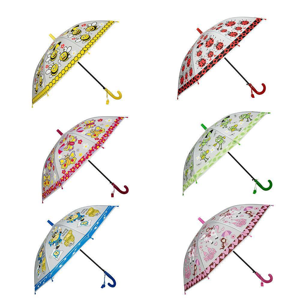 Kids Boys Girls Cute Pattern Sun Rain Anti-UV Windproof Umbr