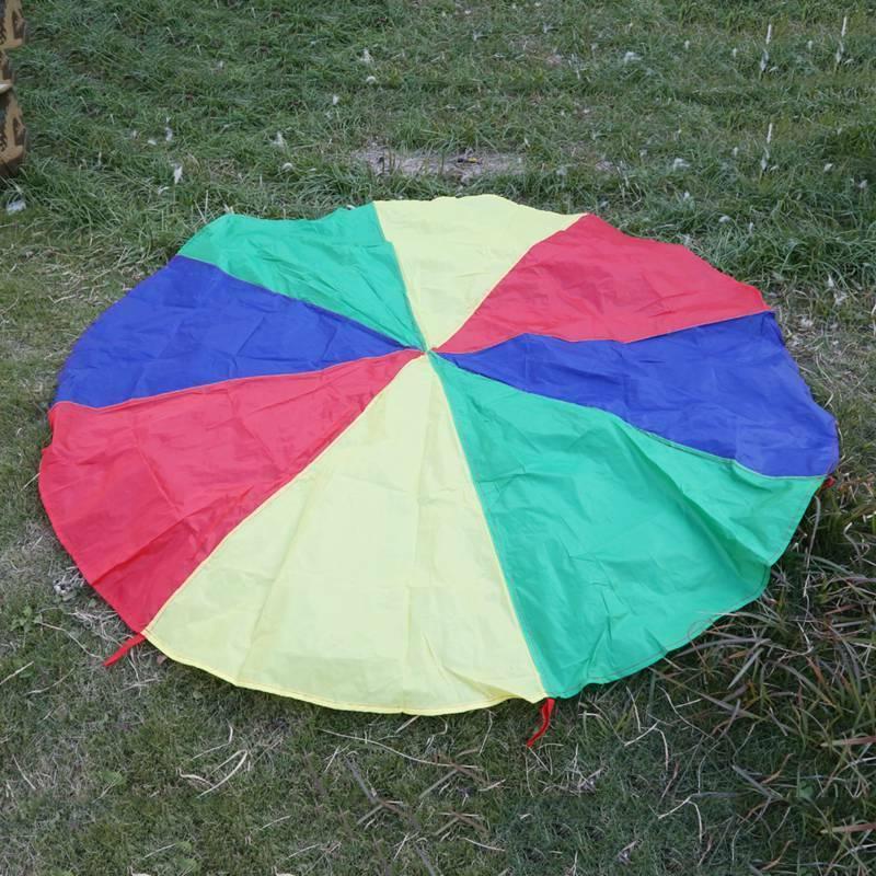 Rainbow Parachute Kids Sports Development Outdoor Umbrella P