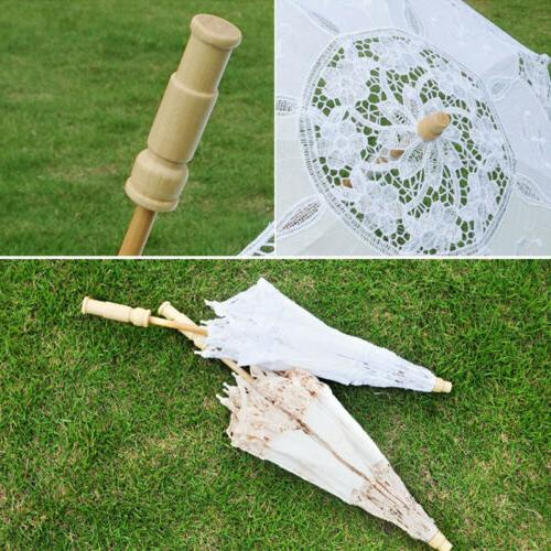 Lace Parasol Beautiful Vintage Wedding Party