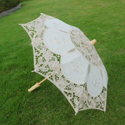 Lace Parasol Vintage Wedding Party Decor