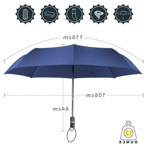Large Umbrella Folding Fully-Automatic Strong Windproof Rain