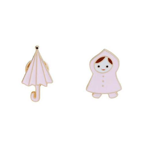 Little Raincoat Umbrella Brooch Kids Gift