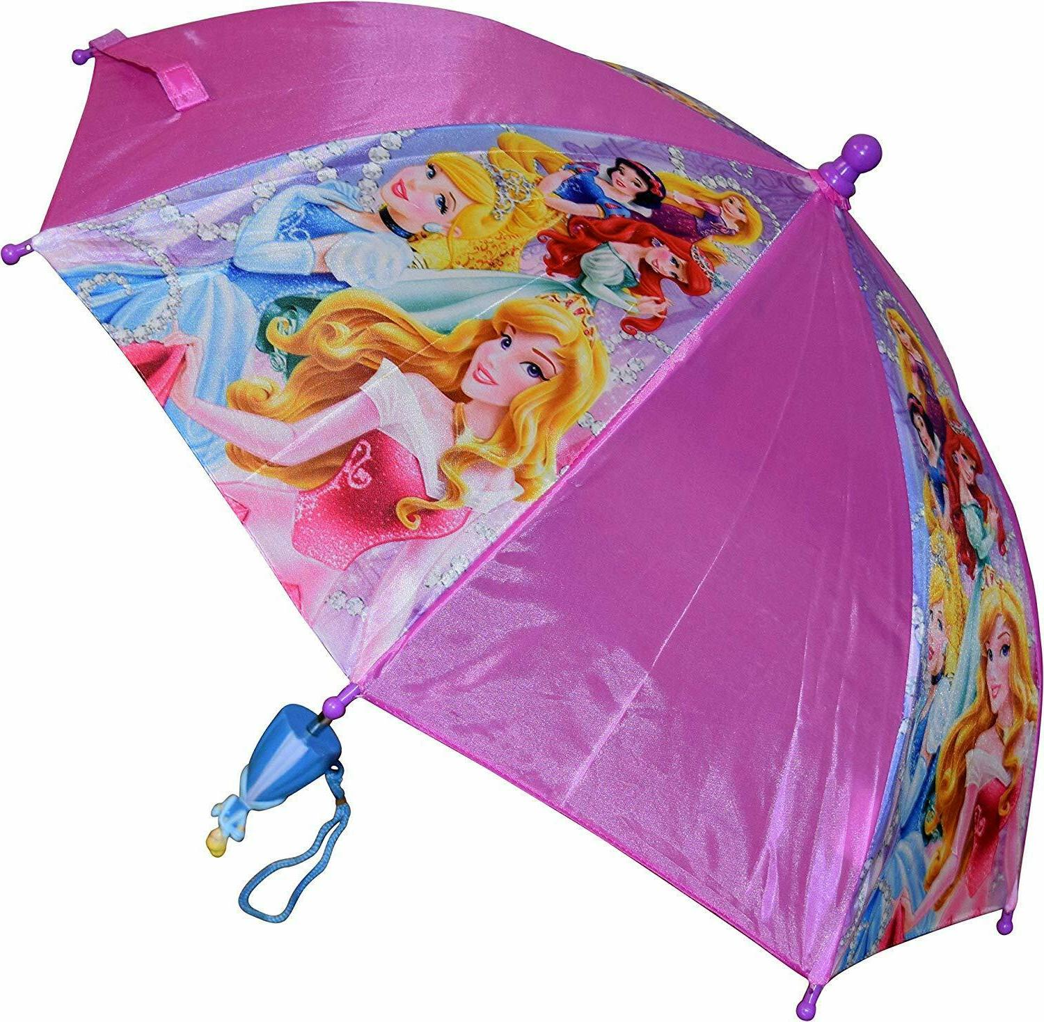 little girls princess umbrella cute pink purple