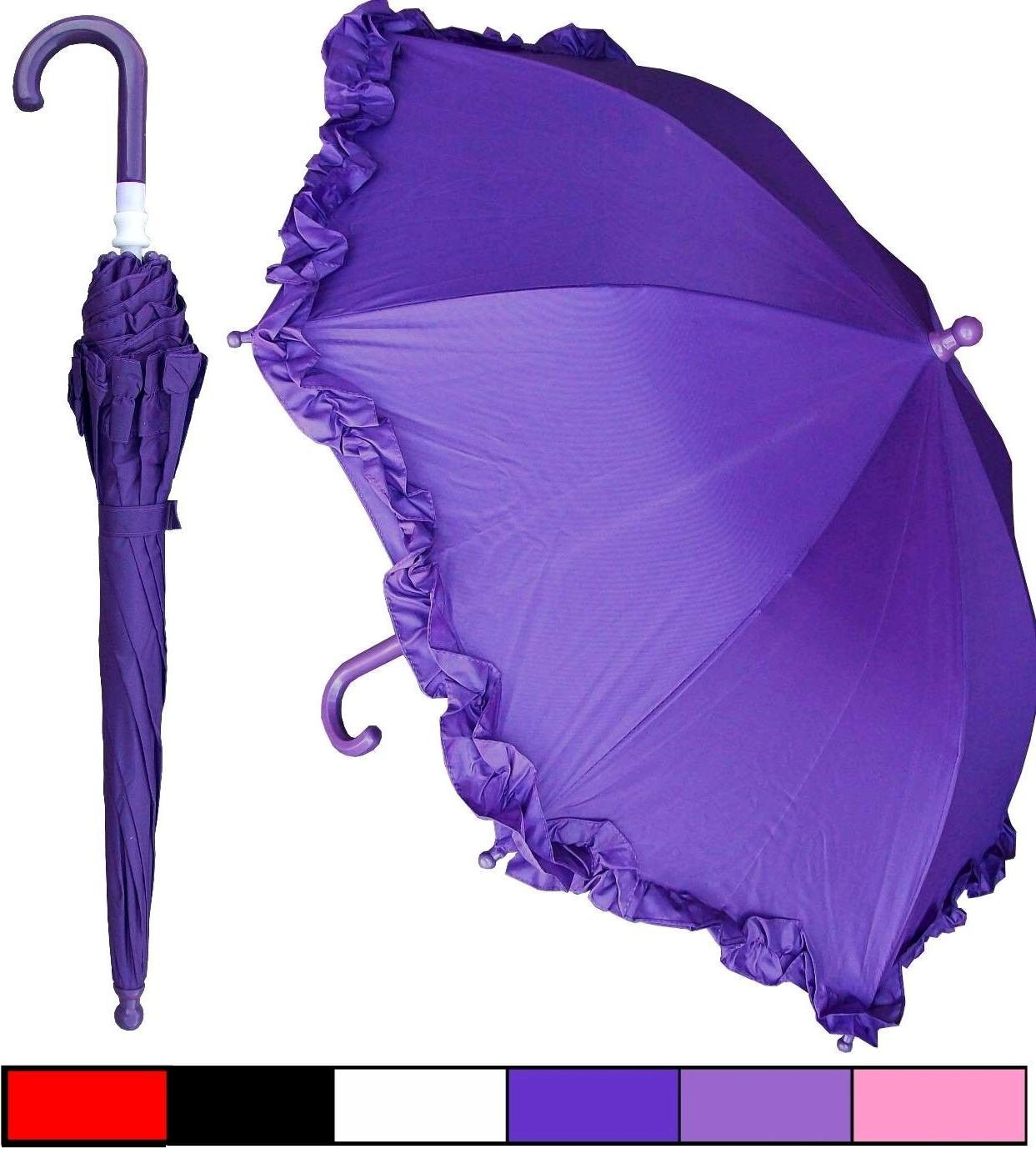 "Lot of 12 - 32"" Arc Child Kid Parasol Style Umbrellas - Rain"