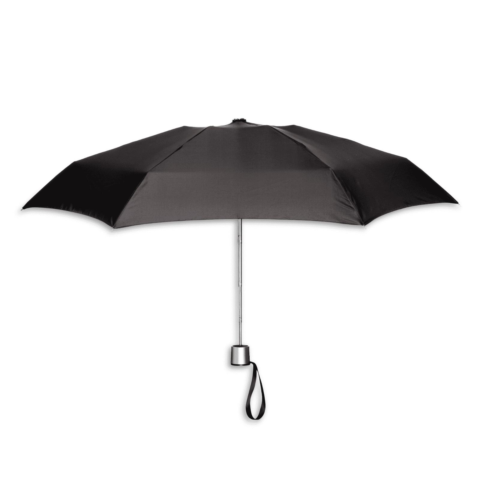 manual compact umbrella black