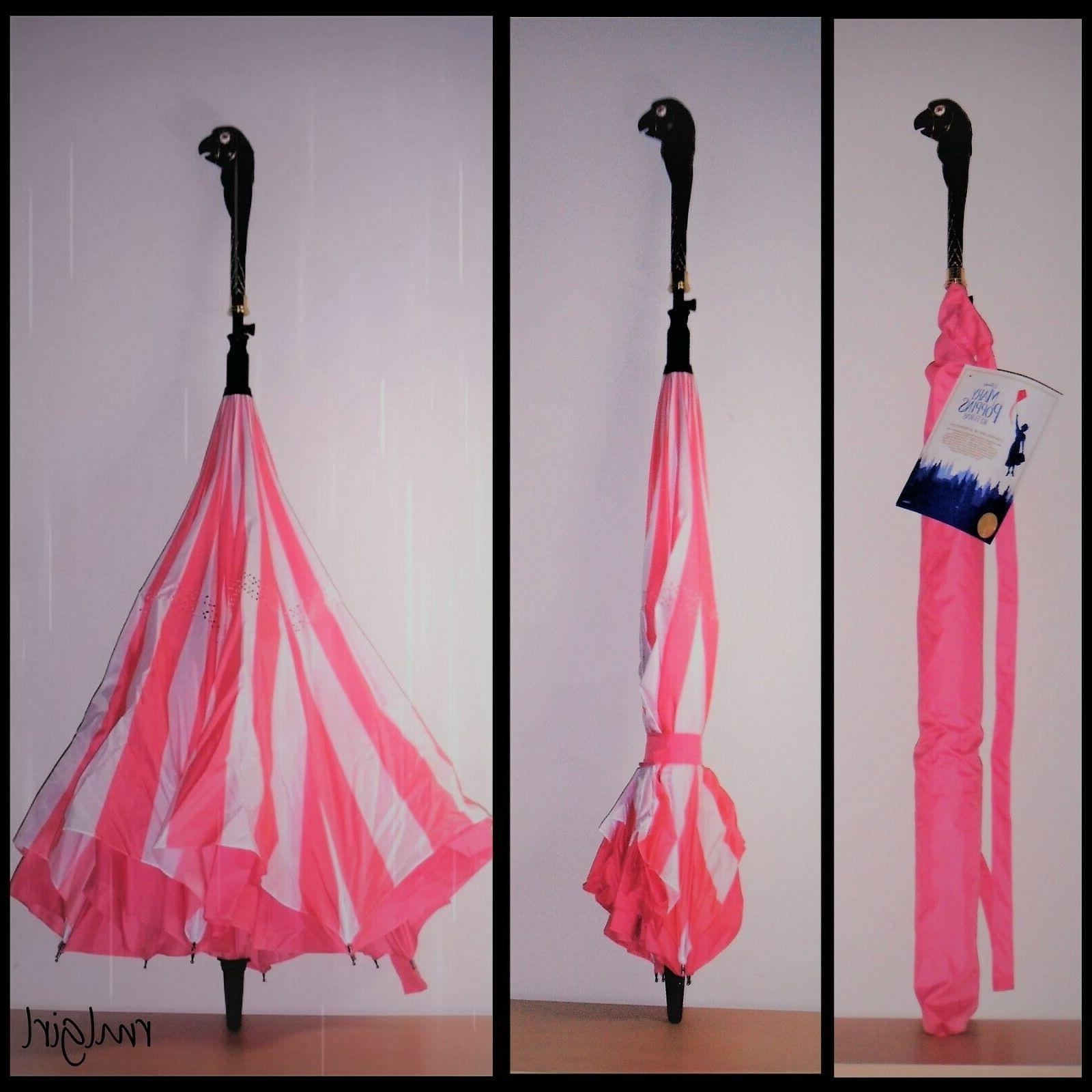 mary poppins returns pink stripe inverted parrot