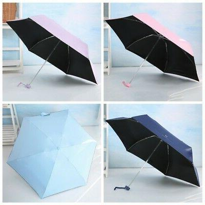 Mini 5-Folding Windproof Rain Sun Travel