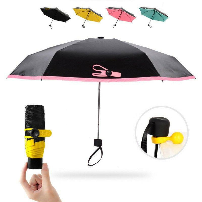 Mini Folding Compact Super Windproof Anti-UV Rain Sun Travel