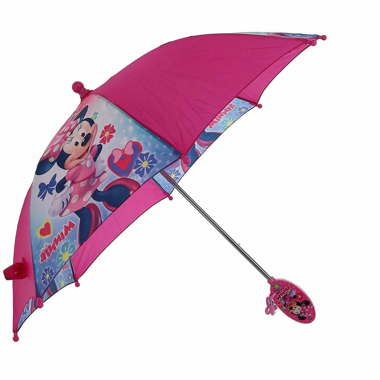 Minnie Mouse Umbrella Rain Pink Pre School Childrens Kids Gi