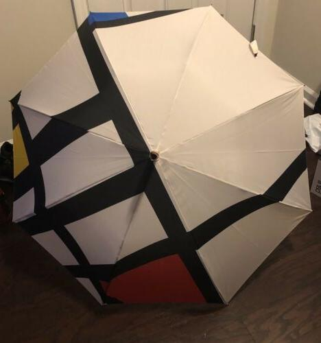 MoMA Mondrian Trafalgar Square Stick Umbrella  NEW