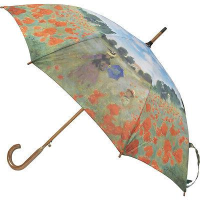 monet poppy field auto stick umbrella poppy