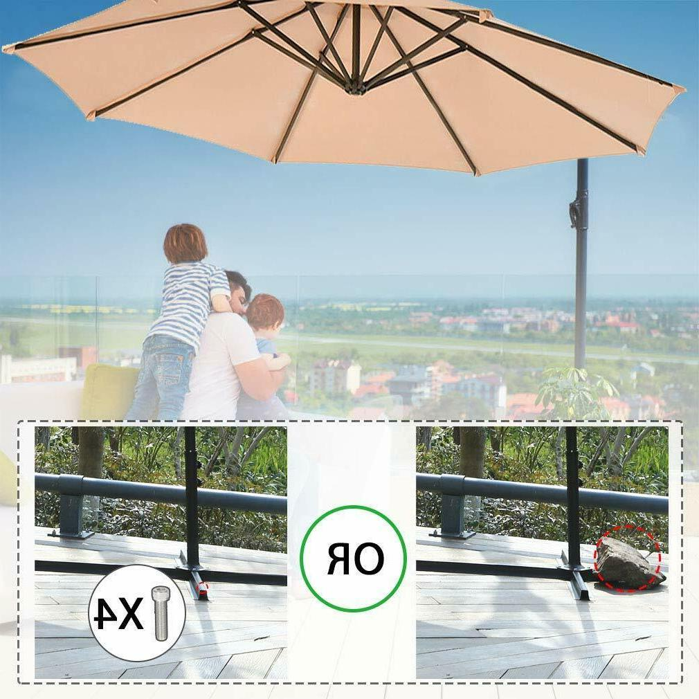 New 10' Patio Offset Outdoor Market Umbrella