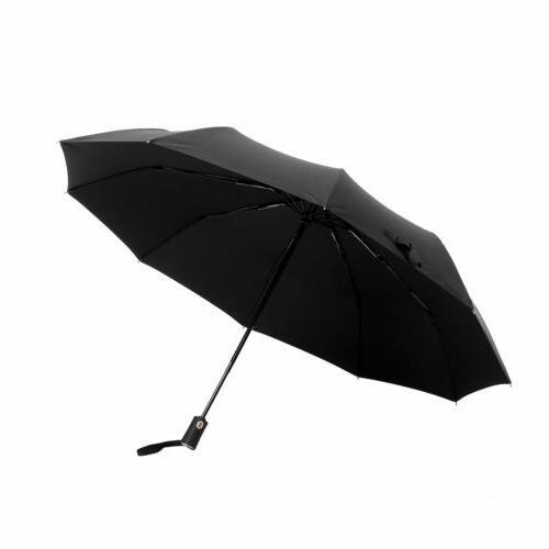 New 10 Ribs Compact Folding Auto Open Close Travel Umbrella