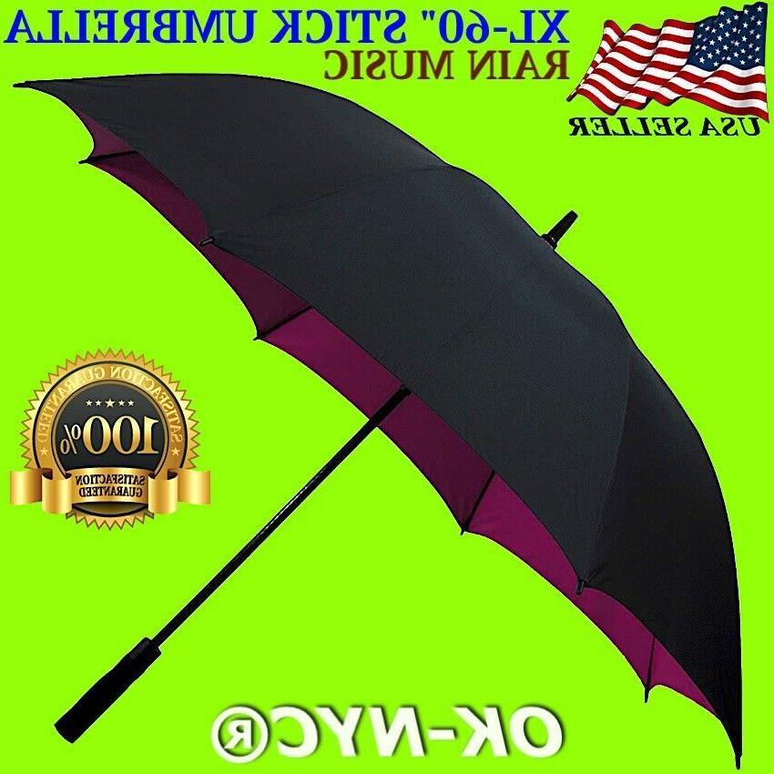 new 60 automatic open golf stick umbrella