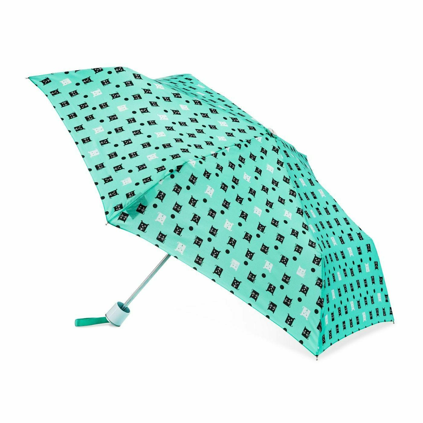 new cats and dogs compact umbrella mint
