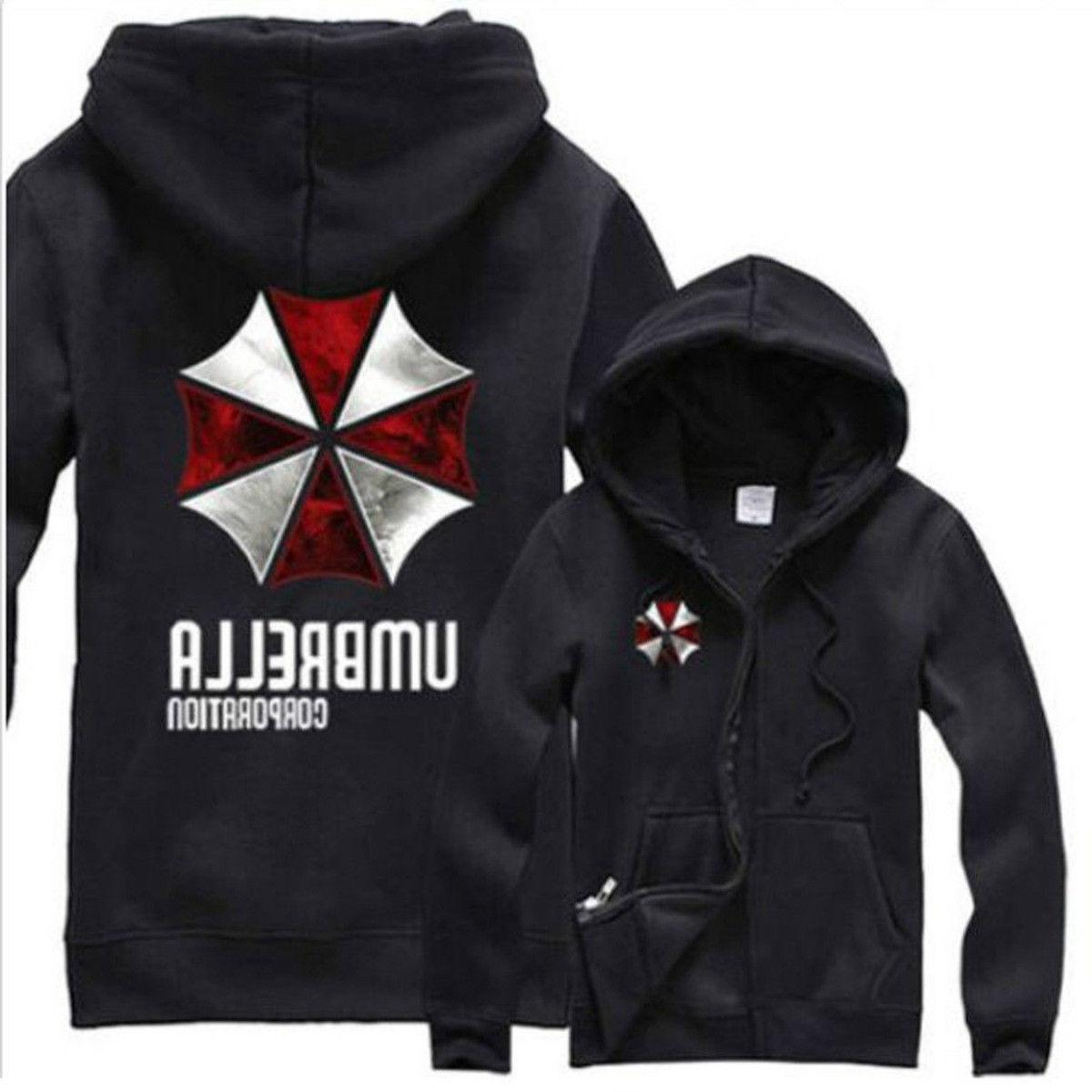 New Resident Evil Umbrella Corporation Hoodie Sweater Cosplay Jacket Coat #a