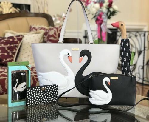 NWT,Kate Spade 5pcs Set Swan Tote Handbag&Crossbody&Wallet&U