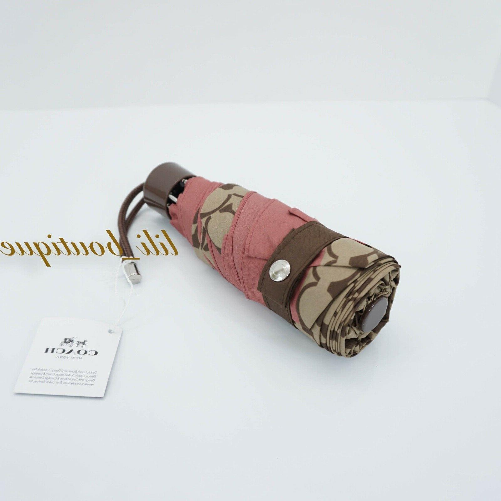 nwt new f63365 women signature mini umbrella