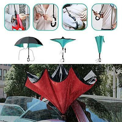Owen Kyne Umbrellas Double Layer Folding Inverted Umbrella, Stand