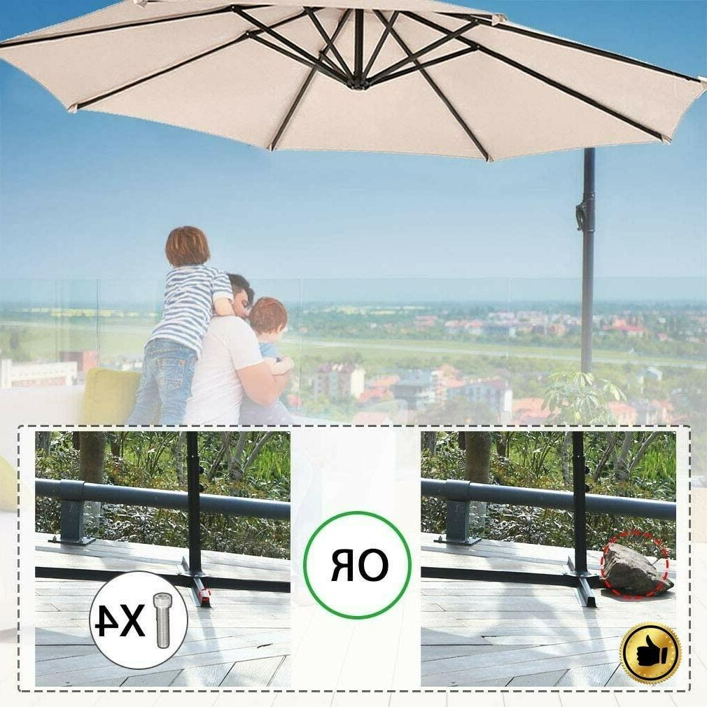 Patio Offset 10' Hanging Cantilever Outdoor Market Shade