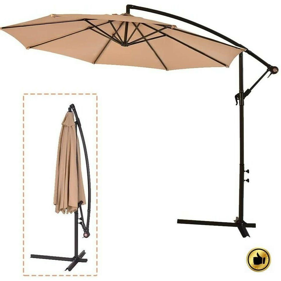 patio umbrella offset 10 hanging cantilever beach