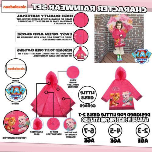 Nickelodeon Paw Patrol and Umbrella Rainwear Set, Little Age 2-7
