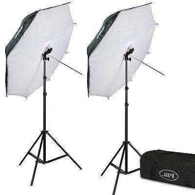 photography led 42in umbrella softbox light kit