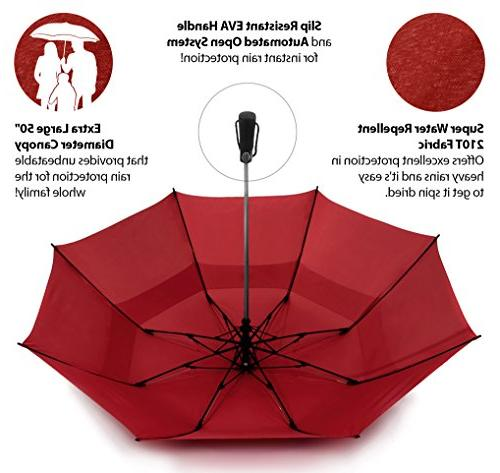 EEZ-Y inch Portable Golf Umbrella Large Windproof Double Automatic Open Umbrellas