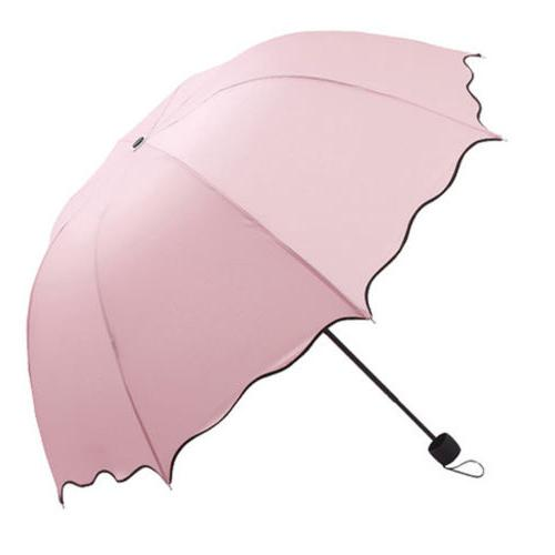 Portable Windproof Anti-UV Sun Rain 3 Folding Compact