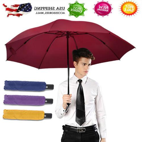 portable windproof umbrella automatic inverted reverse folda