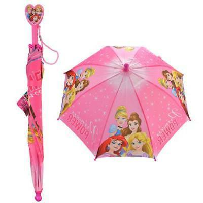 princess kids umbrella with clamshell handle