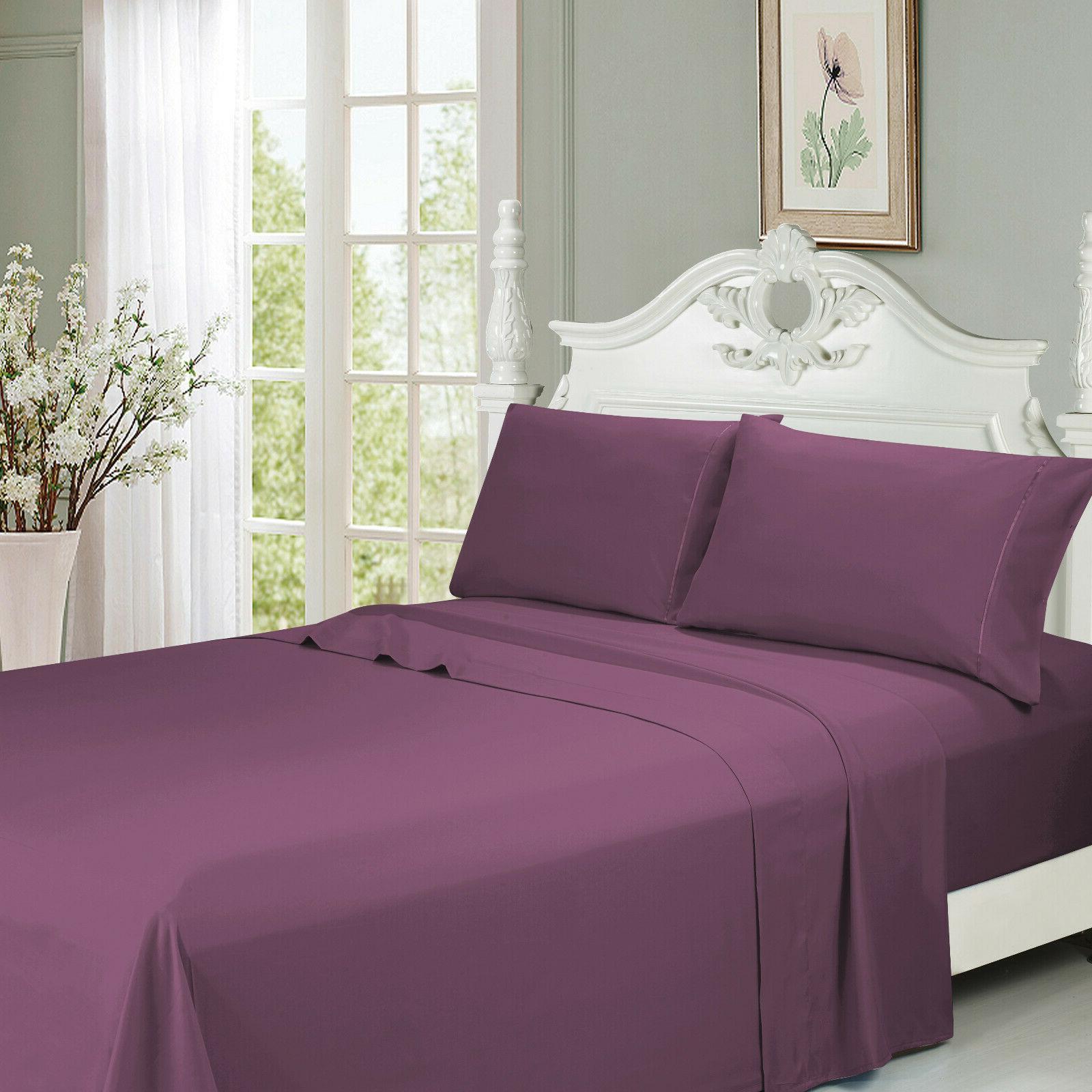 Queen Size Bed Sheet Set 6 PCS Deep Pocket Ultra Soft Cool M