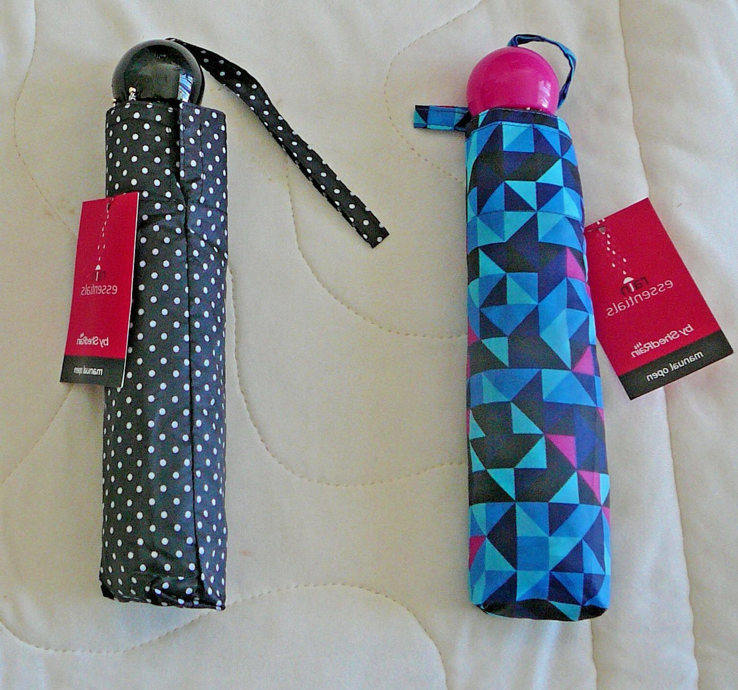 rain essentials manual open umbrella compact mini