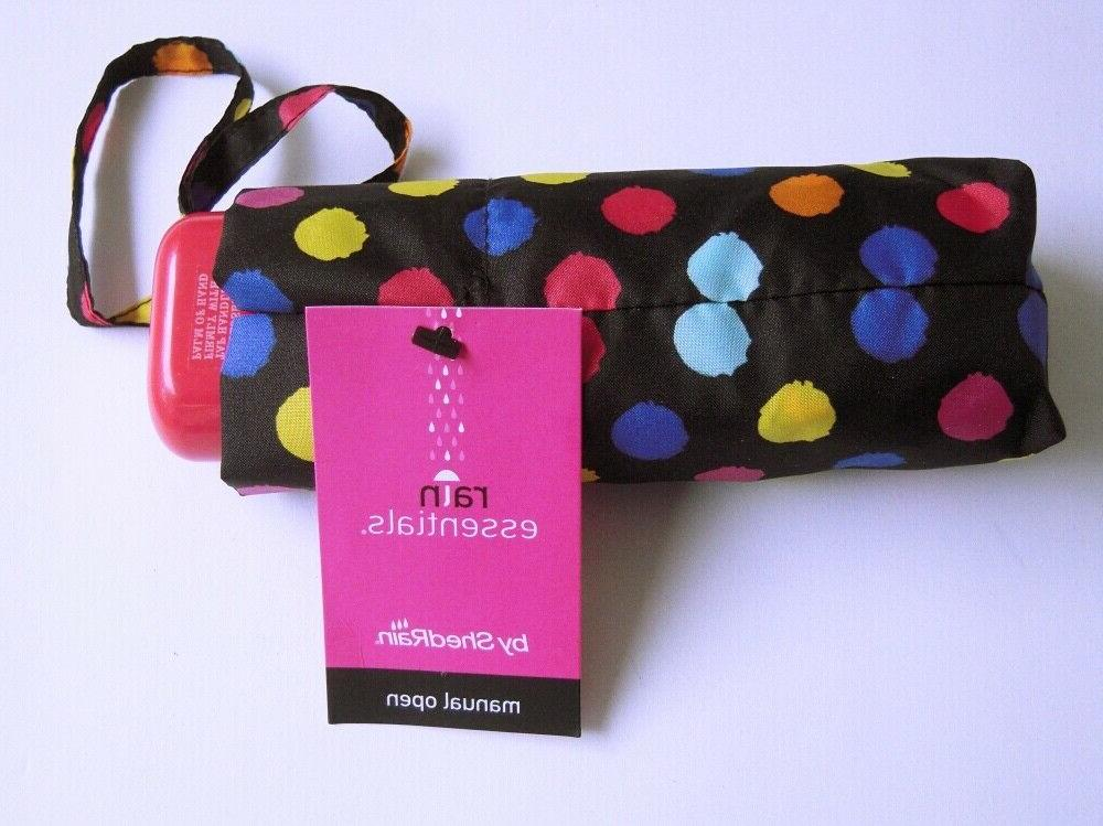 ShedRain Open Umbrella Compact Multi Colored Polka
