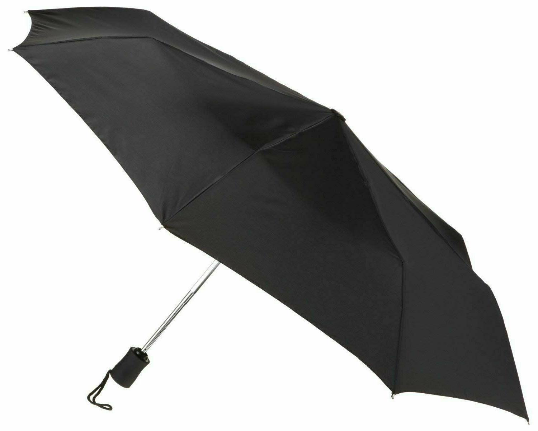 rain umbrella small compact tote folding opens